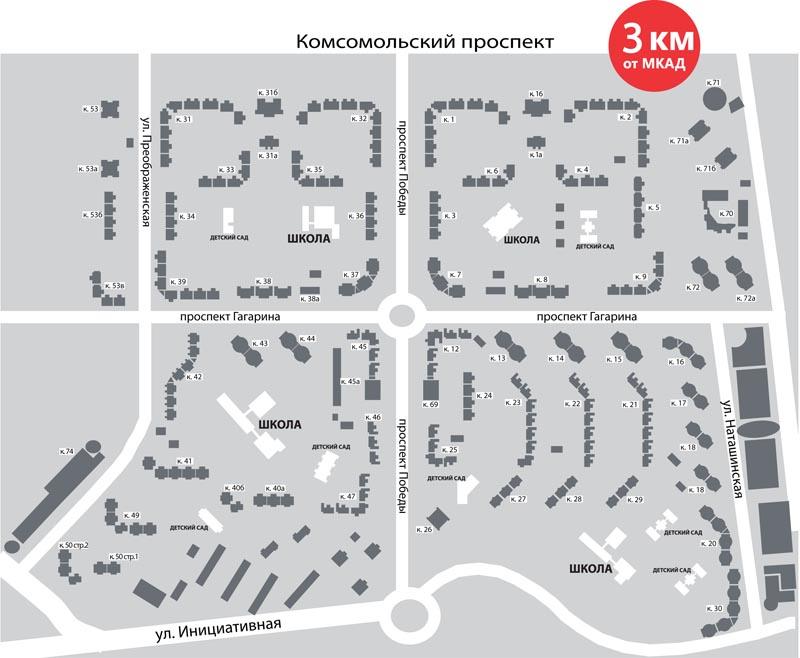 Схема домов в люберцах